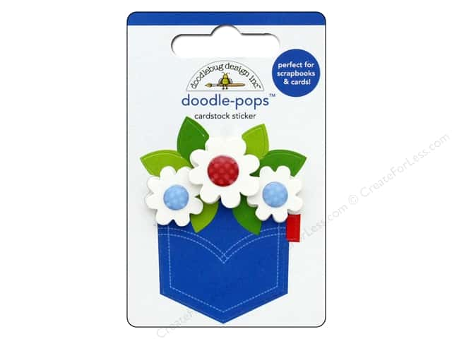Doodlebug Collection Yankee Doodle Doodle Pops Pocket Full Of Posies