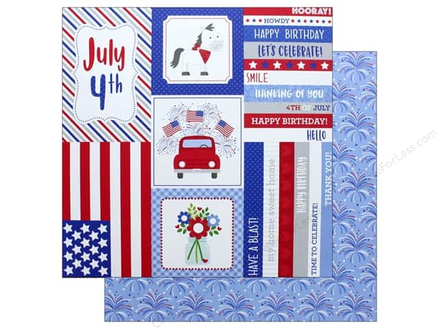 "Doodlebug Collection Yankee Doodle Paper 12""x 12"" Summer Celebration (25 pieces)"