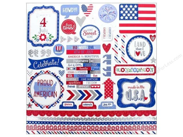 Doodlebug Collection Yankee Doodle Sticker This & That (12 pieces)
