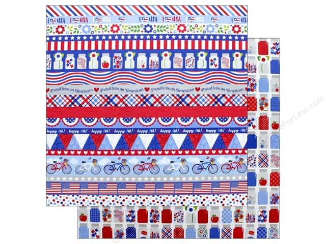 "Doodlebug Collection Yankee Doodle Paper 12""x 12"" Pint Size Treasures (25 pieces)"