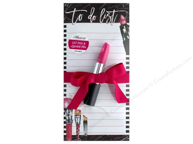 Lady Jayne Note Pad Magnetic List With Pen Lipstick
