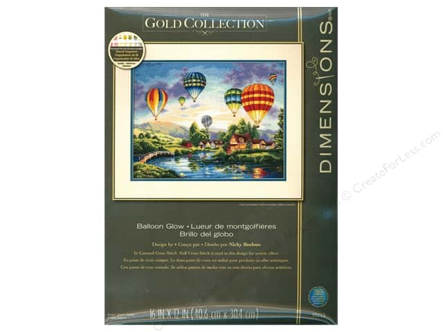 "Dimensions Cross Stitch Kit 16""x 12"" Balloon Glow"