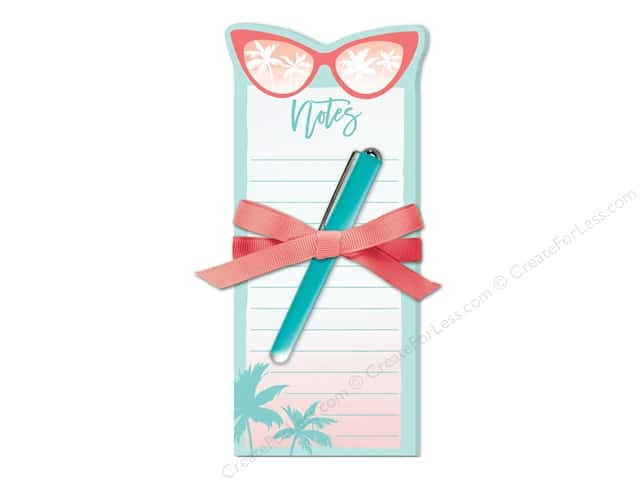 Lady Jayne Note Pad Die Cut With Pen Tropical Sunglasses