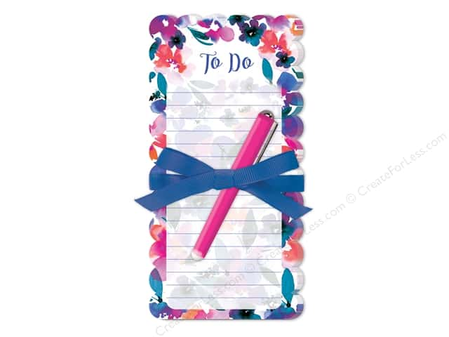 Lady Jayne Note Pad Die Cut Floral With Pen Tropical