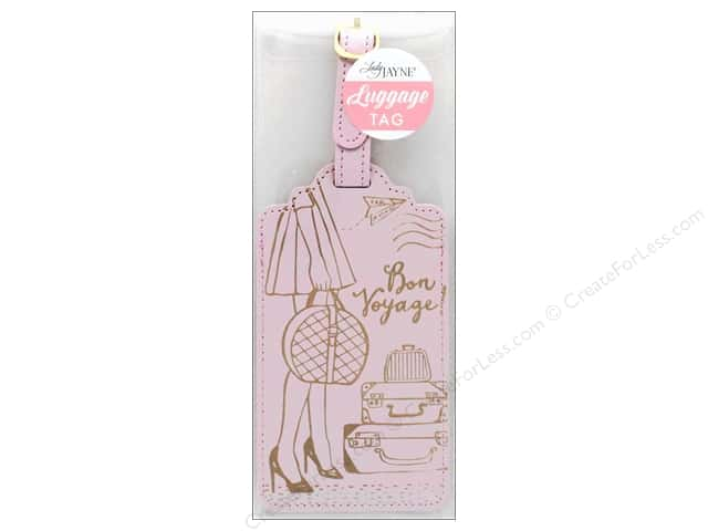 Lady Jayne Luggage Tag Bon Voyage Girl