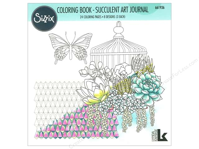Sizzix Accessories Lynda Kanase Coloring Book Succulent Art Journal