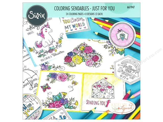 Sizzix Accessories Katelyn Lizardi Coloring Sendables Just For You