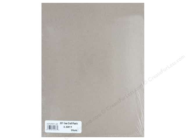 "Grafix Plastic Craft Sheet 8.5""x 11"" .007mil Clear 25pc"