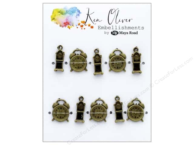 Maya Road Products Ken Oliver Vintage Charms Tic Tock