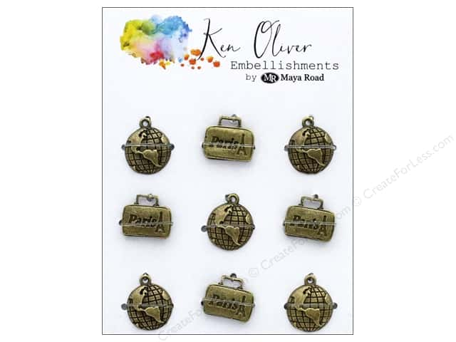 Maya Road Products Ken Oliver Vintage Charms World Traveler