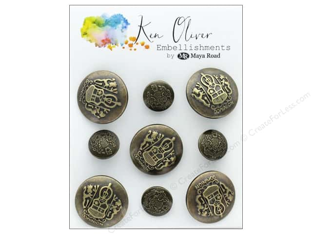 Maya Road Products Ken Oliver Vintage Charms Ornate Buttons