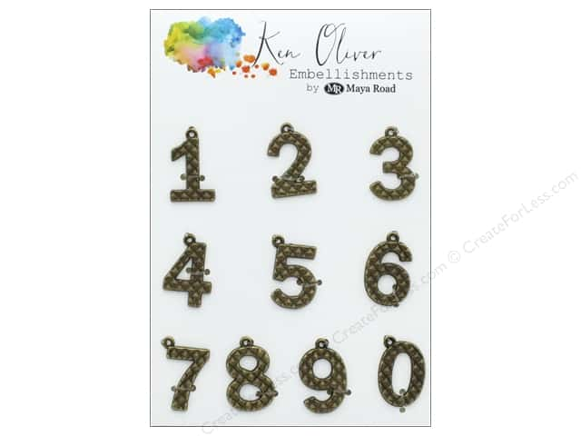 Maya Road Products Ken Oliver Vintage Charms Numbers