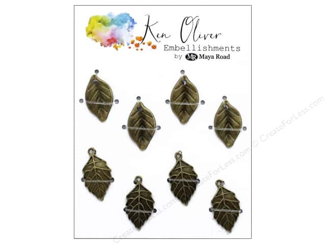 Maya Road Products Ken Oliver Vintage Charms Leaf