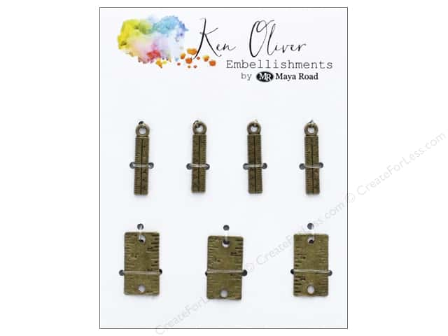 Maya Road Products Ken Oliver Vintage Charms Mini Ruler