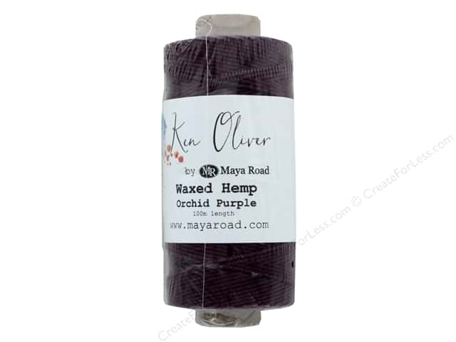 Maya Road Products Ken Oliver Waxed Hemp 100m Orchid Purple