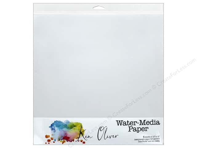 "Canvas Corp Ken Oliver Water-Media Paper 12""x 12"""