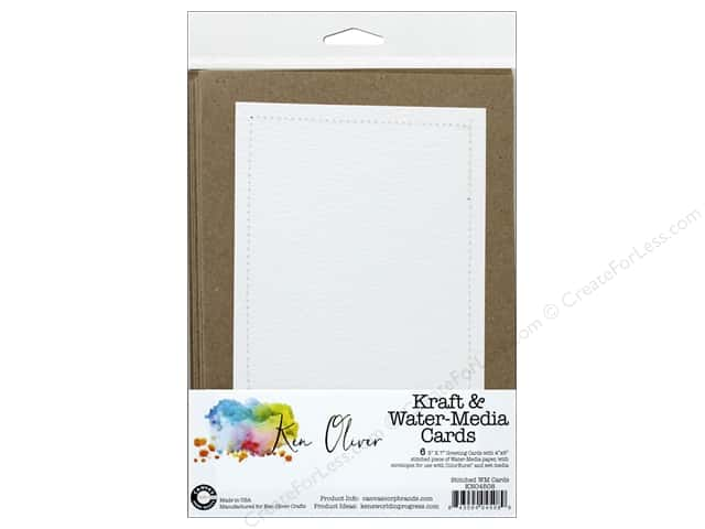 Canvas Corp Ken Oliver Water-Media Stitched Card & Envelope
