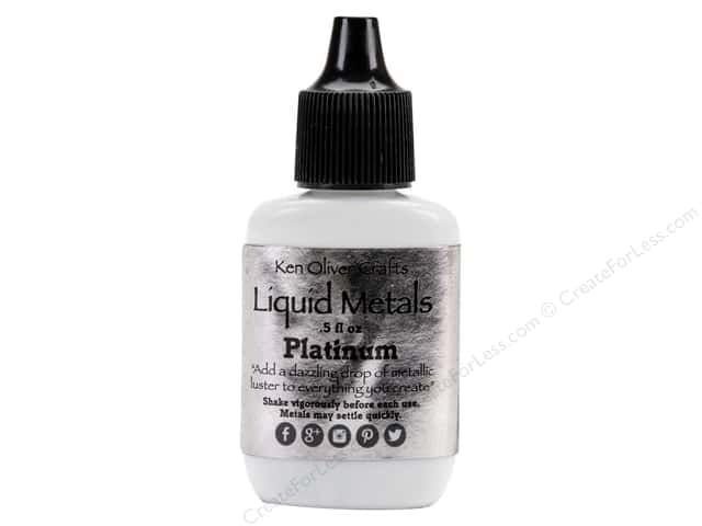 Contact Crafts Ken Oliver Liquid Metals .5oz Platinum