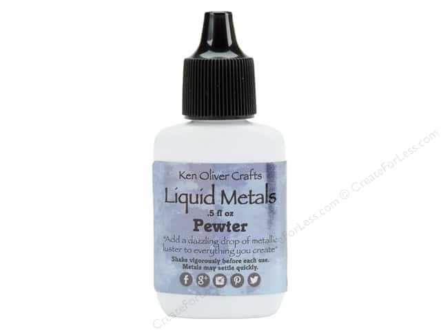 Contact Crafts Ken Oliver Liquid Metals .5oz Pewter