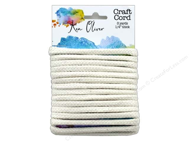 Canvas Corp Ken Oliver 100% Cotton Craft Cord Cream