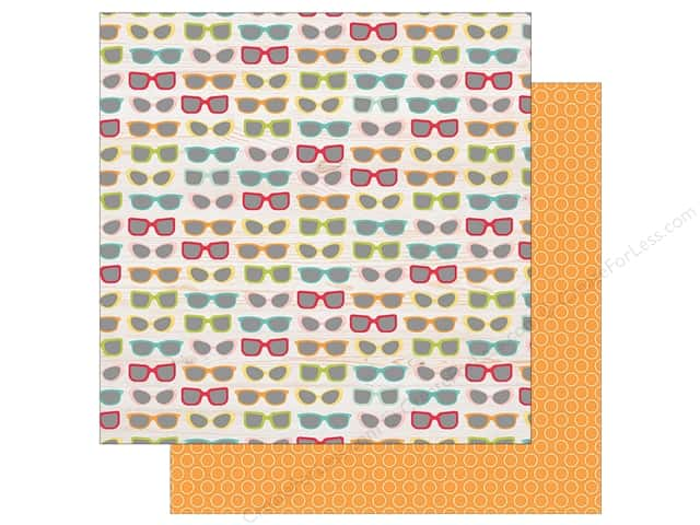 Simple Stories Collection Summer Days Paper  12 in. x 12 in. Gotta Wear Shades (25 pieces)