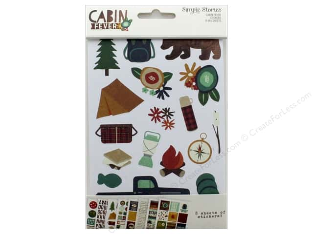 Simple Stories Collection Cabin Fever Stickers 4 in. x 6 in.