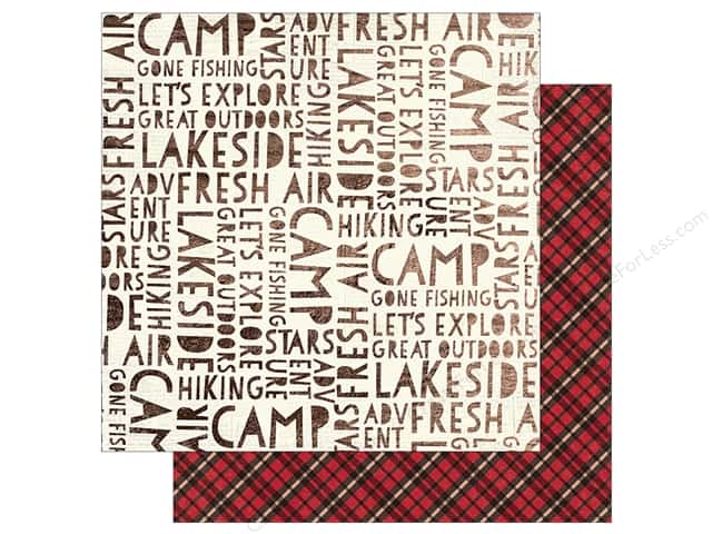 Simple Stories Collection Cabin Fever Paper  12 in. x 12 in. Adventure Awaits (25 pieces)