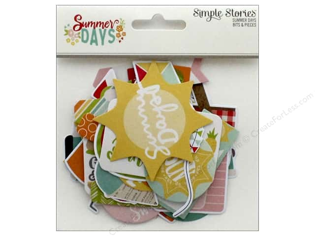 Simple Stories Collection Summer Days Bits & Pieces