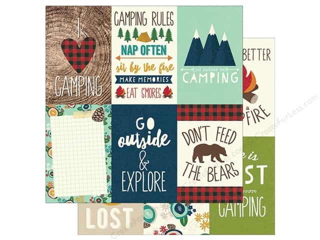 Simple Stories Collection Cabin Fever Paper  12 in. x 12 in. Elements Vertical 4 in. x 6 in. (25 pieces)