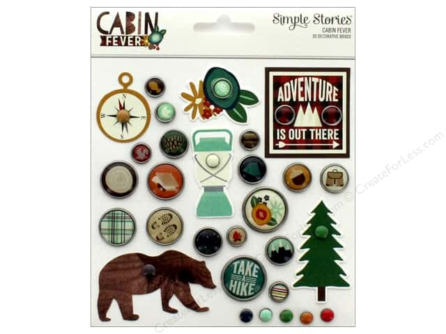 Simple Stories Collection Cabin Fever Decorative Brads