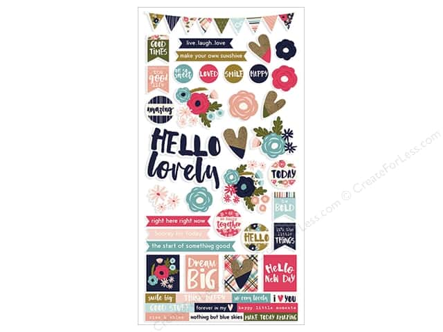 Simple Stories Collection Hello Lovely Sticker 6 in. x 12 in. (12 pieces)