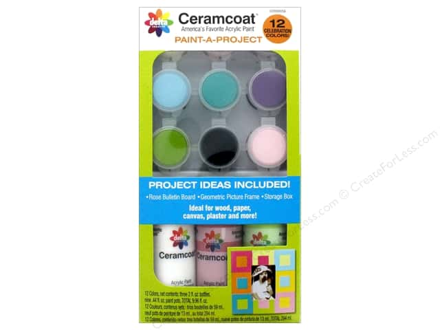 Delta Ceramcoat Paint-A-Project Kits Celebration