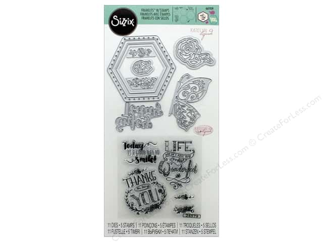 Sizzix Die & Stamp Katelyn Lizardi Framelits Thanks For Being You