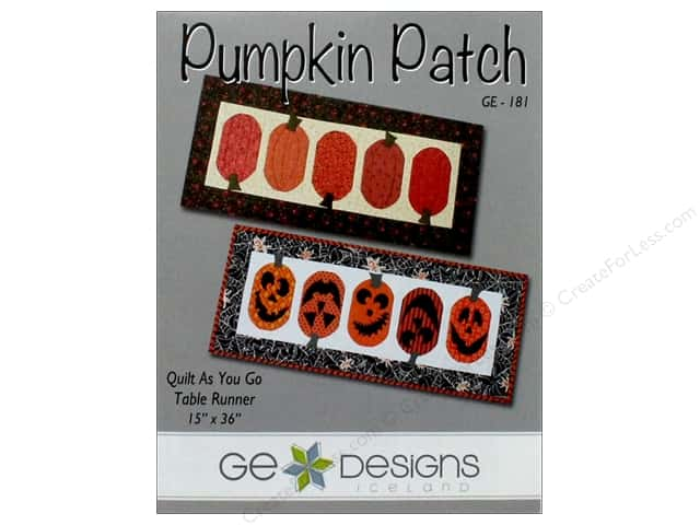 GE Designs Pumpkin Patch Runner Pattern