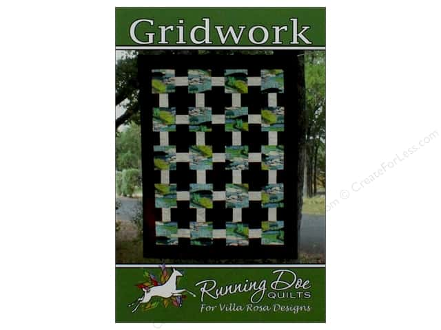 Villa Rosa Designs Running Doe Gridwork Pattern Card