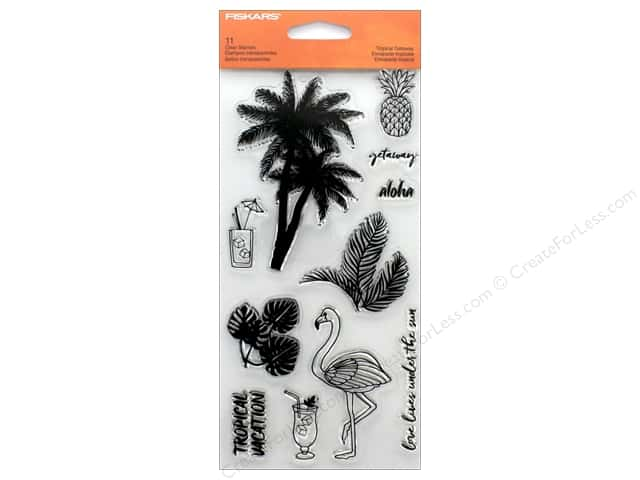 "Fiskars Stamp Clear Tropical Gateway 4""x 8"""