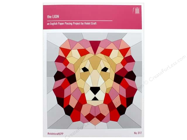 Violet Craft The Lion An EPP Project Pattern