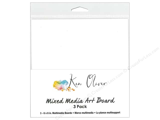 Contact Crafts Ken Oliver Mixed Media Art Board 6 in. x 6 in.