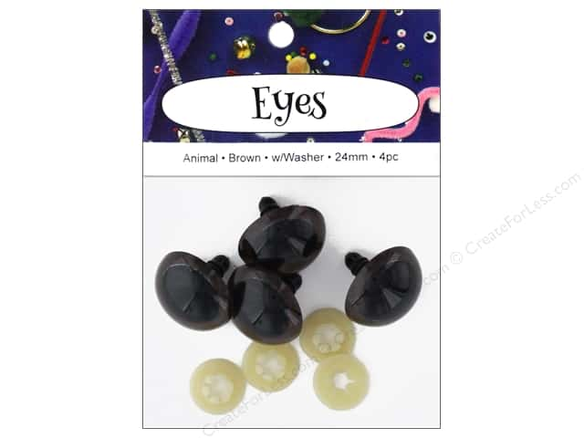PA Essentials Animal Craft Eyes 24 mm Brown 4 pc.