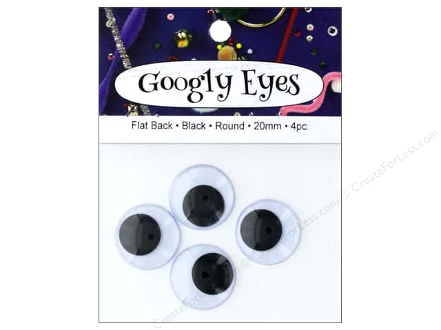 PA Essentials Googly Eyes 13/16 in. Round 4 pc. Black