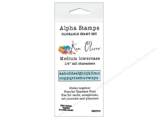 Contact Crafts Ken Oliver Clickable Stamp Alpha Medium Lower
