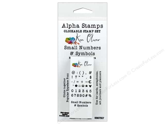 Contact Crafts Ken Oliver Clickable Stamp Small Number & Symbol