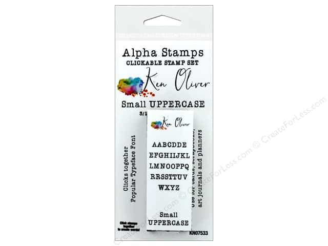 Contact Crafts Ken Oliver Clickable Stamp Small Upper Case Alpha