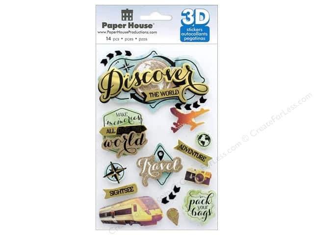 Paper House 3D Stickers - Discover The World