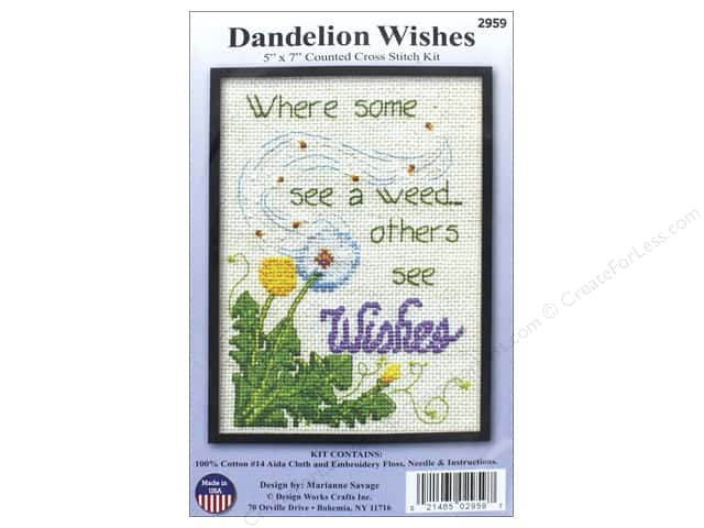 Design Works Counted Cross Stitch Kit 5 x 7 in. Dandelion Wishes