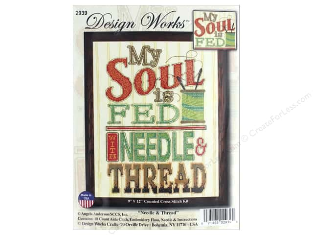 "Design Works Cross Stitch Kit 9""x 12"" Needle & Thread"