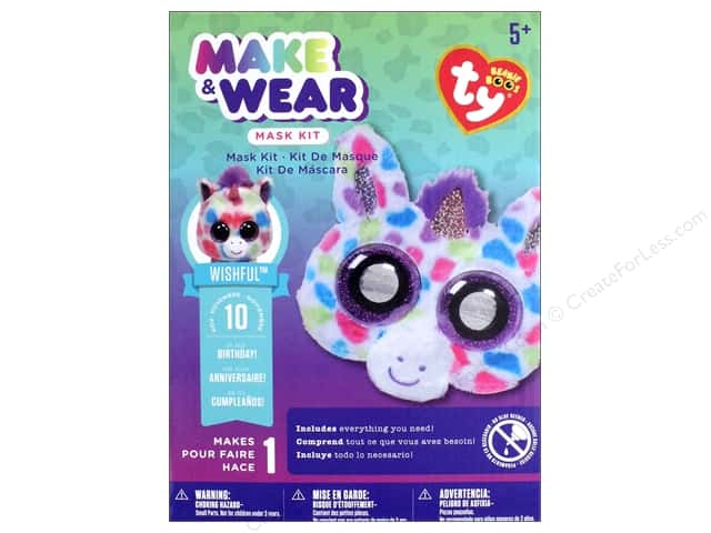 Darice Kit Beanie Boo Make & Wear Mask Wishful Unicorn