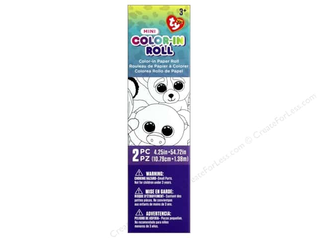 Darice Beanie Boo Color-In Paper Roll