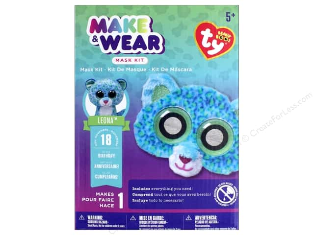 Darice Beanie Boo Mask Kit - Leona the Leopard