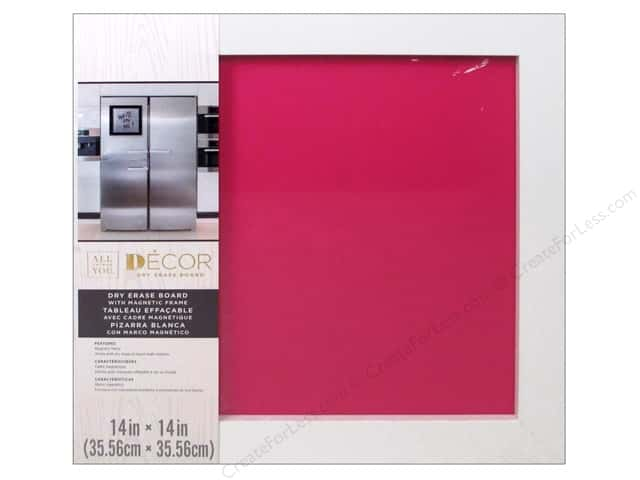 "Darice Dry Erase Board 14""x 14"" White/Hot Pink"